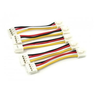 Cable de 4 pines universal, 5cm flexibles (Paquete de 5 piezas)