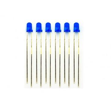 LED de 3mm azul - 100 PCs