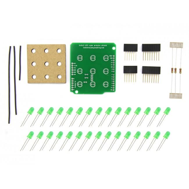 Fritzing Project 3x3x3 Cube Radio Shack Kit