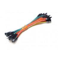 Cable de pines hembra-hembra 100mm - 50 piezas