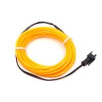 Cable Electroluminiscente Amarillo - 3m