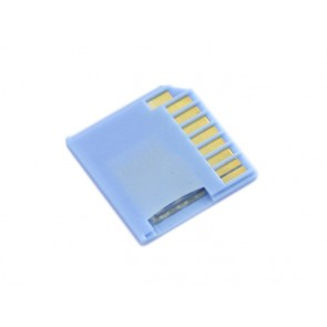 Micro SD Card Adapter for Raspberry & Macbooks - Blue