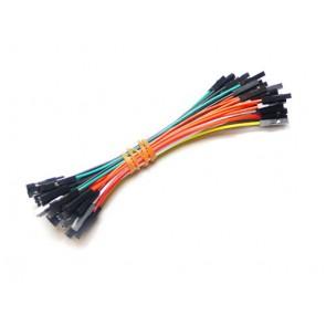 1 pin hembra-hembra cable puente de 100mm paquete de 50 piezas