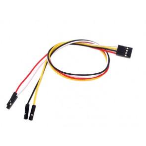 Cables individuales para 4 pines en conexión hembra (30 cm de largo, paquete de 5 grupos)