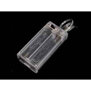 Soporte de 2 baterías AA con interruptor ON/OFF y tapa deslizante