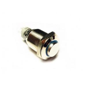 Botón de metal - Momentario c/LED Azul