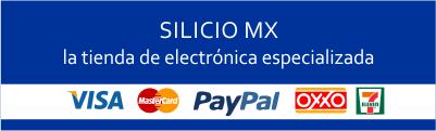 Medios de Pago Silicio MX: Visa, Mastercard, PayPal, Oxxo, 7-eleven